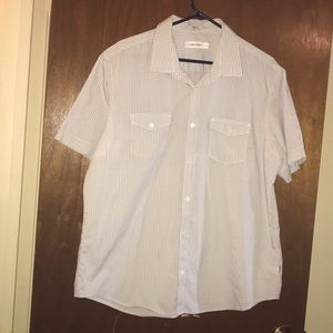 Calvin Klein men's short sleeve button down shirt.